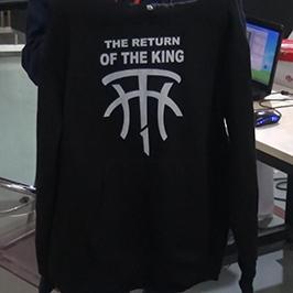 Crni džemper uzorak za štampu pomoću A2 majice štampača WER-D4880T