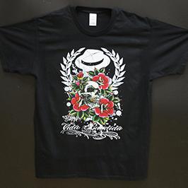 Crni majica za štampanje uzorka pomoću A1 digitalnog tekstilnog štampača WER-EP6090T