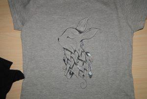 Siva majica štampa uzorak od A2 štampača T-shirt WER-D4880T