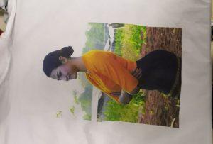 T majice za štampanje uzorka za Burma klijenta iz štampača WER-EP6090T